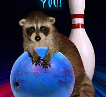 Thank you Bowling Raccoon by jkartlife