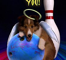 Thank You Bowling Angel Sheltie Puppy by jkartlife