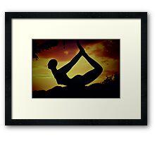 Yoga at Sunset  Framed Print