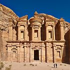 The Monastery Al Deir in ancient town Petra by travel4pictures