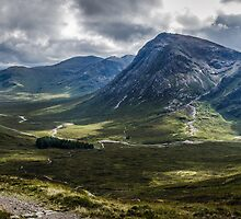 Mountains of Glencoe from the Devils Staircase, Scotland by batousan