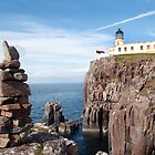 Blue sky over Neist Point Lighthouse by Richard Flint