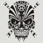 The Devil Inside - Cool Skull Vector T Shirt Design by Denis Marsili