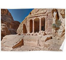 Garden Temple in nabataean ancient town Petra Poster