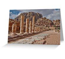 nabatean city Petra, Cardo Maximus Greeting Card