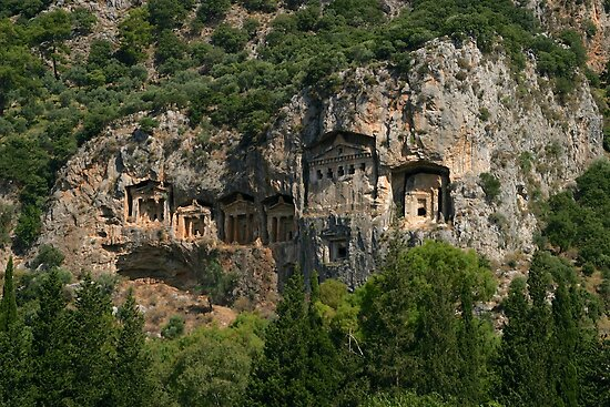 Carian Rock Tombs by Jens Helmstedt