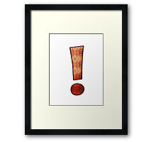 Exclamation mark Framed Print