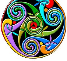 Celtic Illumination - Trinity Swirl II by William Martin
