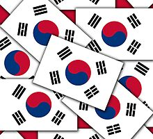Iphone Case - Flag of South Korea - Multiple II by Mark Podger
