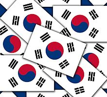 Iphone Case - Flag of South Korea - Multiple III  by Mark Podger