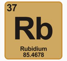 Element Rb Rubidium by SignShop