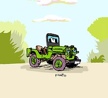 Classic Willys CJ3B jeep by RFlores
