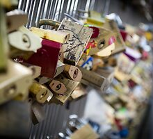 Parisian Love Padlock by Scott Lyons