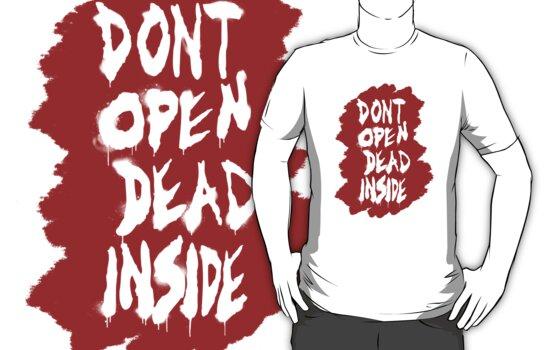 Don't open... * Blood and spray graffiti TWD by cocolima