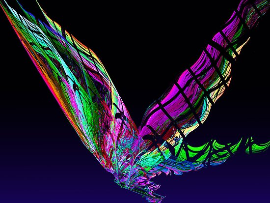 Fractal - Butterfly in Flight by Susan Savad
