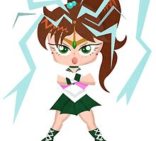 Sailor Moon: Sailor Jupiter Thunder Crush (Without Text) by TornadoTwist