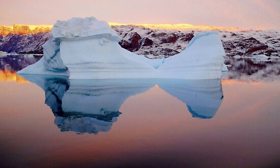 iceberg at sunset by supergold