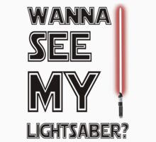 Wanna See My Lighsaber? Star Wars Black by Alessandro Tamagni