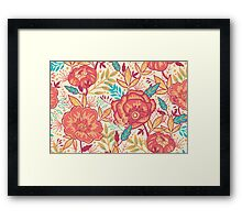 Bright garden pattern Framed Print