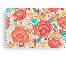 Bright garden pattern Canvas Print