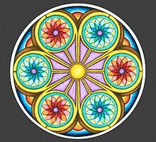 Portal Mandala - Print w/grey background by TheMandalaLady