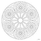 Portal Mandala - Print - Paint/Color Your Own by TheMandalaLady