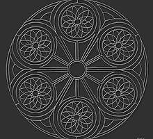 Portal Mandala - Print - white design by TheMandalaLady