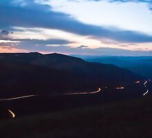 Driving at Night: Berthoud Pass by Audrey Farber