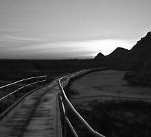 Badlands at Sunrise 3 by Audrey Farber