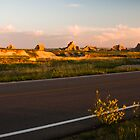 Badlands at Sunrise 4 by Audrey Farber