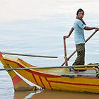 Kratie Boatman by Werner Padarin