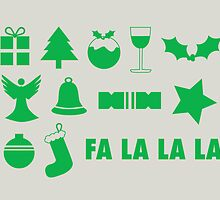 Christmas symbols - fa la la by rperrydesign