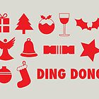Christmas symbols - ding dong by rperrydesign