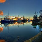 Last lights in Steveston, British Columbia by Marcel Pepin