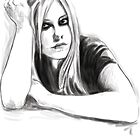 Avril Lavigne portrait by hotanime