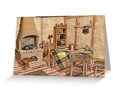 Humble Rustic Home - Country Cottage Interior Greeting Card