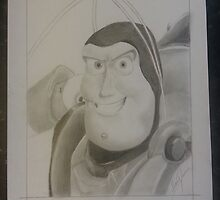 Toy Story's Buzz Lightyear, hand drawn by MDucrow