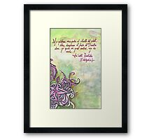 Illustrated quote (Spanish), Nietzsche Framed Print