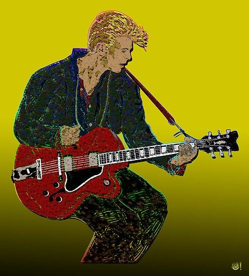 Bowie Guitar 2 by Michael Donnellan