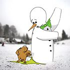 The Dog and The Snowman by TheKingLobotomy