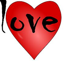 Love Symbol Red Heart with Letters 'LOVE' by punith