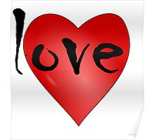 Love Symbol Red Heart with Letters 'LOVE' Poster