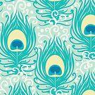 Peacock feathers pattern by oksancia