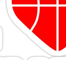 I Love This Game Basketball Logo Design Sticker