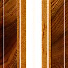 Nalu Mua Hawaiian Faux Koa Wood Surfboard - White by DriveIndustries