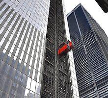 Going up! Cargo elevator....New York City! Sky Scraper... by Poete100