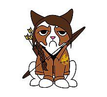 Grumpy Katniss Photographic Print