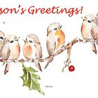 6 Little Birds - Season's Greetings! by Maree  Clarkson