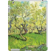 Orchard in Blossom. Vintage floral garden oil painting by Vincent van Gogh. iPad Case/Skin