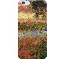 Flowering Garden. Vintage floral garden oil painting by Vincent van Gogh. iPhone Case/Skin